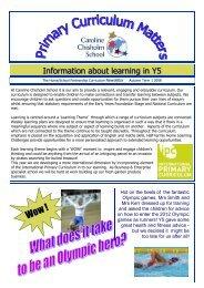 Autumn 1 Curriculum Matters Y5