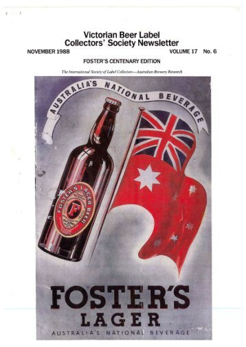 Victorian Beer Label Collectors' Society Newsletter - The Victorian ...