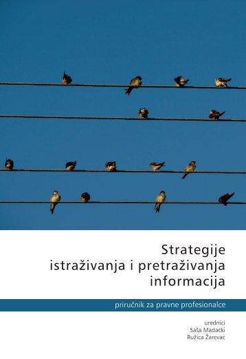 Strategije istraživanja i pretraživanja informacija - Centar za ljudska ...