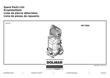 Spare Parts List Ersatzteilliste Liste de pièces détachées ... - Dolmar
