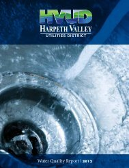 Water Quality Report | 2012 - Harpeth Valley Utilities District