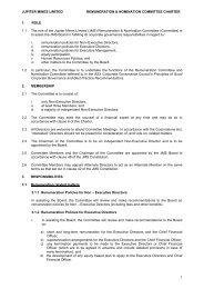 Remuneration & Nomination Committee Charter - Jupiter Mines