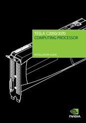TESLA™ C2050/2070 COMPUTING PROCESSOR - Nvidia