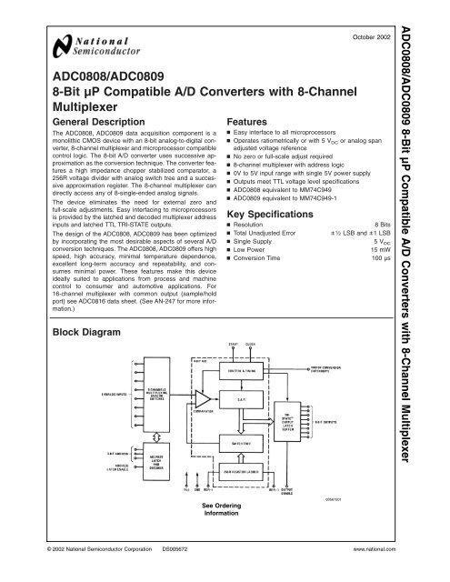 Block Diagram Of Adc0809   Wiring Diagram on
