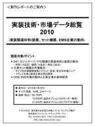 実装技術・市場データ総覧 2010 - 株式会社 ジャパンマーケティング ...