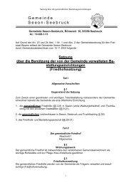 Satzung über die Benutzung der von der ... - Seeon - Seebruck