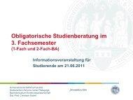 1-Fach-BA - Humanwissenschaftliche Fakultät - Universität zu Köln