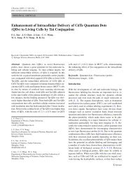 Enhancement of Intracellular Delivery of CdTe Quantum Dots (QDs ...