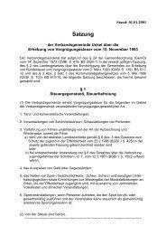 Satzung - Verbandsgemeindeverwaltung Unkel