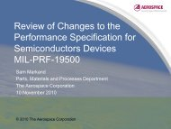 Review of Changes to the Performance Specification for ...