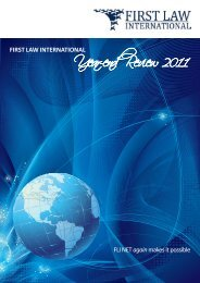 Year-end Review 2011 - First Law International