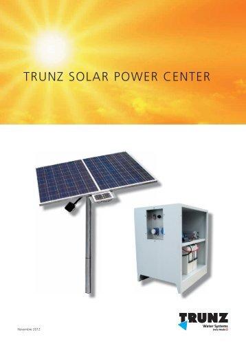 Brochure Trunz Solar Power Center - Trunz Water Systems