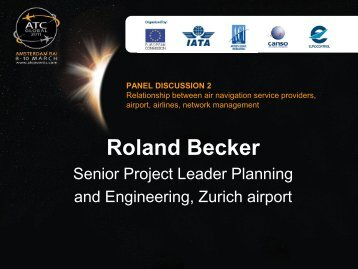 Roland Becker, Senior Project Leader Planning ... - ATC Global Hub