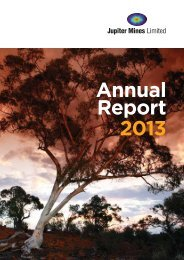 Annual Report 2013 - Jupiter Mines