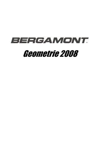 Bergamont Rahmengeometrien 2008