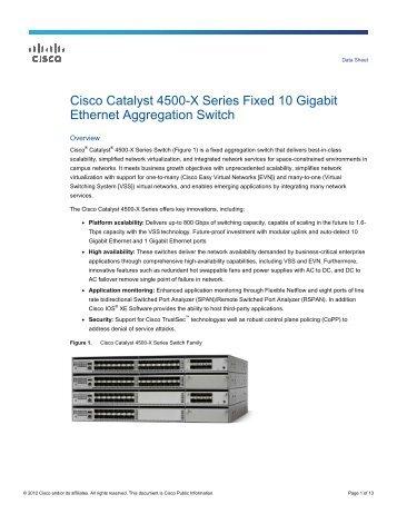 Cisco Catalyst 4500-X Series Fixed 10 Gigabit Ethernet ... - Ipland