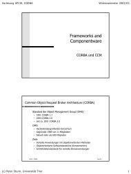 Frameworks and Componentware - Systemsoftware und Verteilte ...
