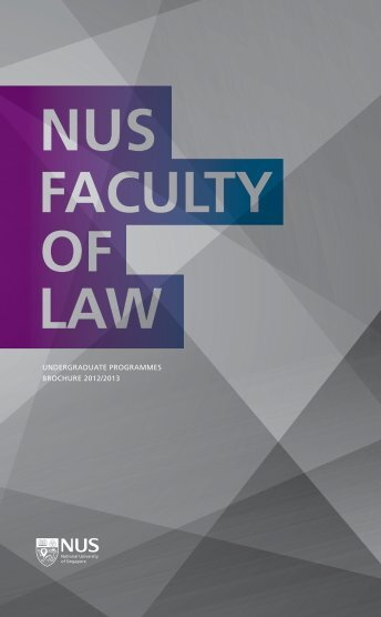 undergraduate programmes brochure 2012/2013 - Faculty of Law ...