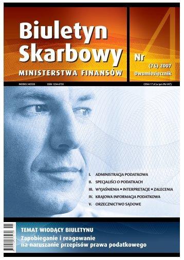 MINISTERSTWA FINANSÓW - Izba Skarbowa w Szczecinie