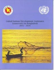 United Nations Development Assistance Framework for Bangladesh ...