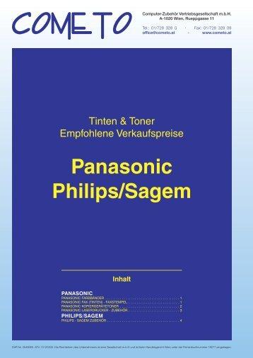 PDF-Katalog Panasonic und Philips/Sagem - Cometo