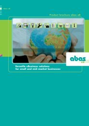 eBusiness solution abas eB: Product brochure - ABAS Software AG