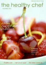 Healthy chef magazine Dec 2010 - griffin design studio