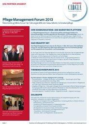 Pflege-Management-Forum 2013 - Business Circle