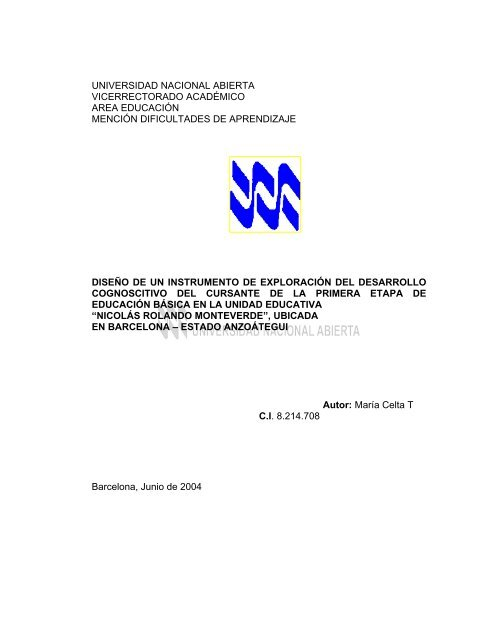 Texto completo - Biblioteca Digital UNA - Universidad Nacional ...