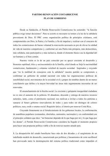 Partido Renovación Costarricense - Especial de nacion.com sobre ...
