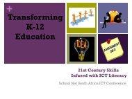 21st Century Skills & ICT Literacy - SchoolNet South Africa