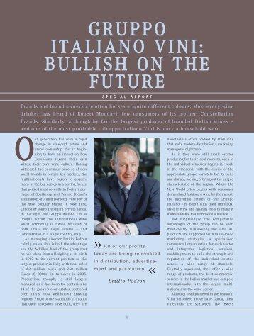 gruppo italiano vini: bullish on the future - Wine Business International