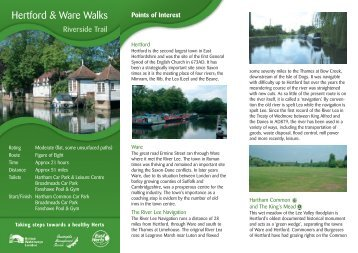 Download a pdf of the leaflet - Hertford to Ware