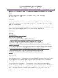 Revisión de la Literatura sobre Uso de Resonancia Magnética ...