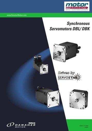Synchronous Servomotors DBL/ DBK - Motor Technology Ltd