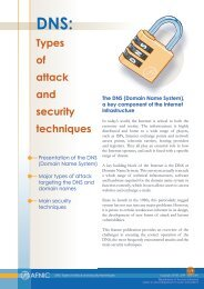 DNS: Types of attack and security techniques - Afnic