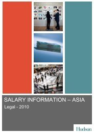Hudson Salary Survey Asia 2009 - Legal - CTHR.hk