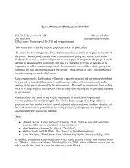 1 Topics: Writing for Publication CRIM 7260 Fall 2012, Tuesdays 1 ...