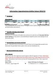 Information Jugendmeisterschaften Saison 2012/13