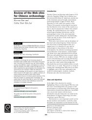 Review of the Web Sites for Chinese Archaeology - Moya K. Mason