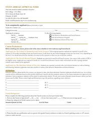 Study Abroad Approval Form - Institute for American Universities