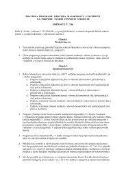 Pravidla programu rektora MU na podporu tvůrčí činnosti studentů
