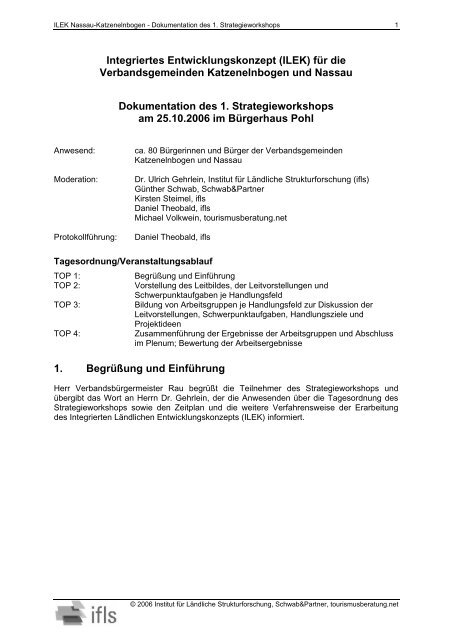 ILEK Nassau-Katzenelnbogen - ILE | Region Lahn-Taunus