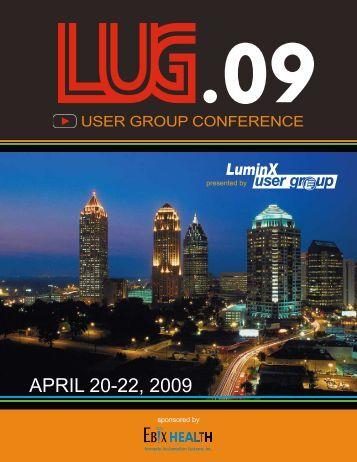 APRIL 20-22, 2009 - Ebix Health User Group