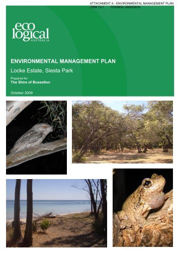 Attachments - City of Busselton - The Western Australian Government