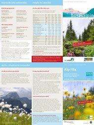 Alp Flix, Bus Alpin - Parc Ela
