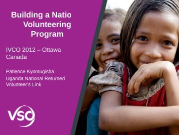 Building a National Volunteering Program - Cuso International