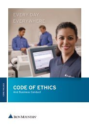 Code of Ethics and Business Conduct - Iron Mountain