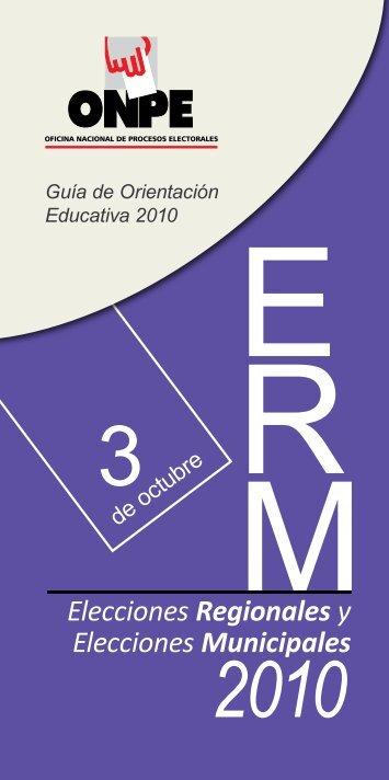 Elecciones Municipales 2010 - ONPE