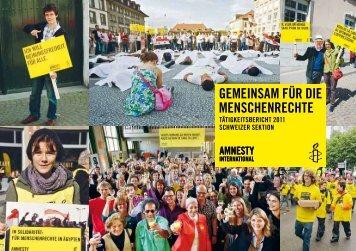 Tätigkeitsbericht - Amnesty International Schweiz